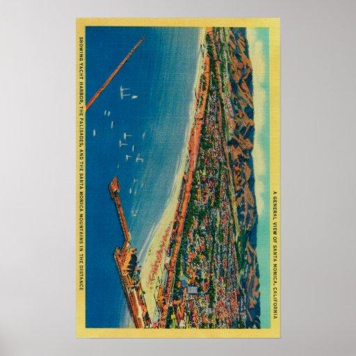 Yacht Harbor, The Palisades, and Santa Monica Print
