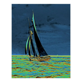 Yacht 'Idler' Races for America's Cup 1901 Posters