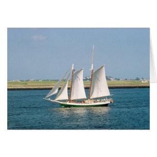 Yacht in Boston Harbor Card