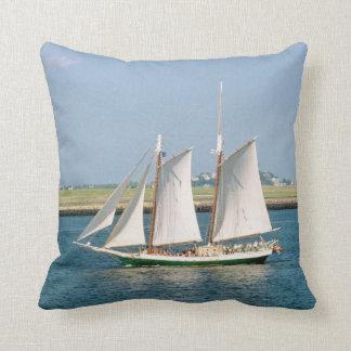 Yacht in Boston Harbor Cushions