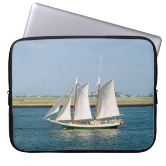 Yacht in Boston Harbor Computer Sleeves