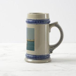 Yacht in Boston Harbor Coffee Mug