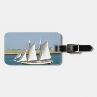 Yacht in Boston Harbor Tag For Luggage