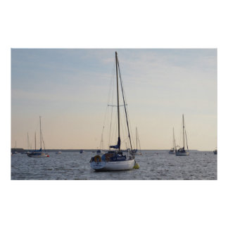 Yacht La Mouette Poster