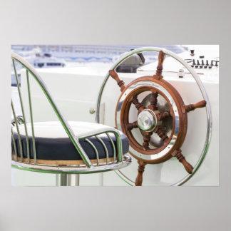 Yacht Rudder Poster