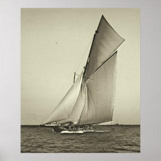 Yacht Shamrock Racing America s Cup 1899 Print