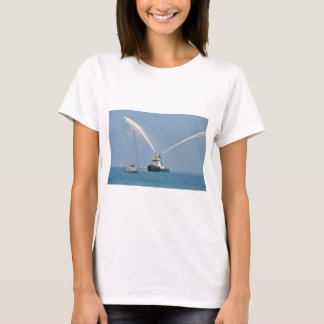 Yacht Zig Zag And Tug T-Shirt