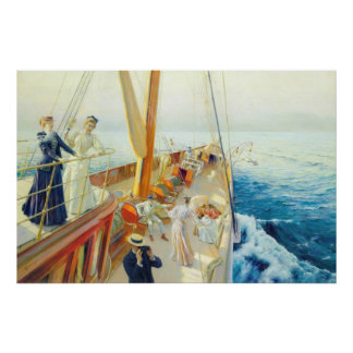 Yachting In the Mediterranean Print
