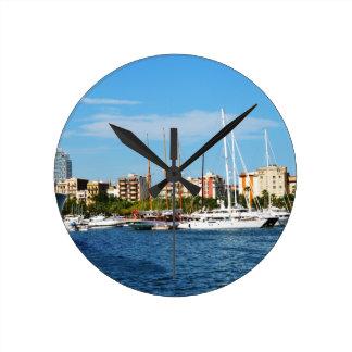 Yachting Round Clock