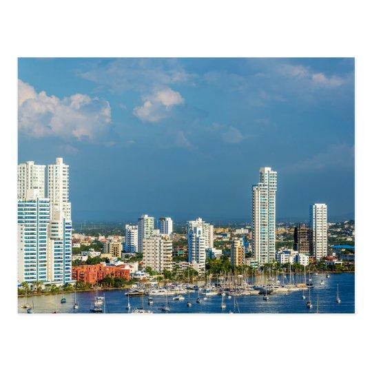 Yachts and Modern Cartagena Postcard