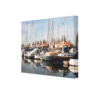 Yachts and reflections in water, Australia Canvas Print