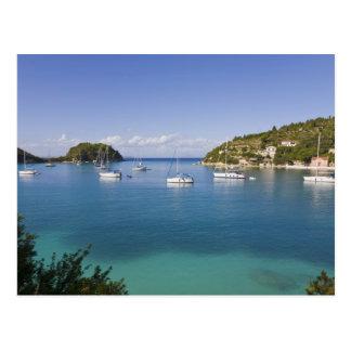 Yachts at anchor, Lakka, Paxos, Greece Postcard
