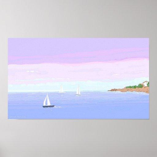 Yachts Away Print