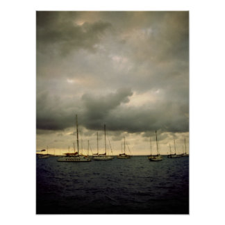 Yachts Before a Storm Print