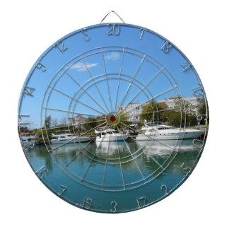 Yachts in Turkey Dartboard