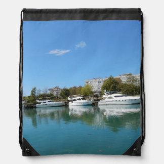 Yachts in Turkey Drawstring Bag