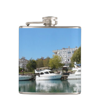 Yachts in Turkey Hip Flask
