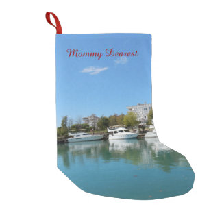 Yachts in Turkey Small Christmas Stocking