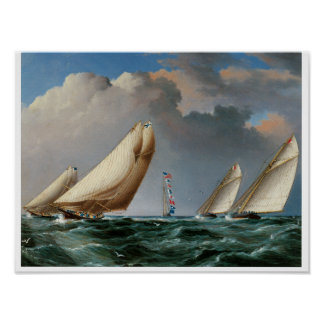 Yachts Rounding The Mark Posters