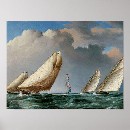 Yachts Rounding the Mark Print
