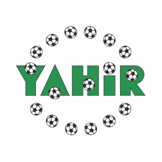 Yahir in Soccer Green Standing Photo Sculpture