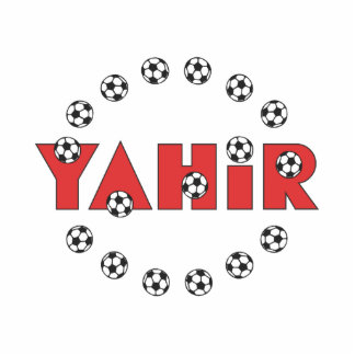 Yahir in Soccer Red Standing Photo Sculpture