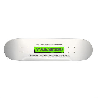 YAHWEH CHRISTIAN COMMUNITY AND PORTAL 18.1 CM OLD SCHOOL SKATEBOARD DECK