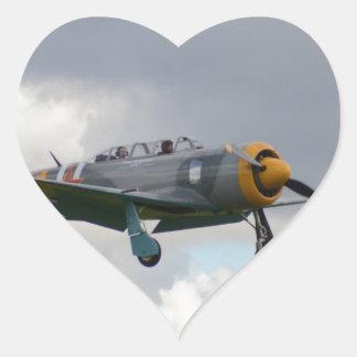 Yak 11 Fighter Trainer Heart Sticker