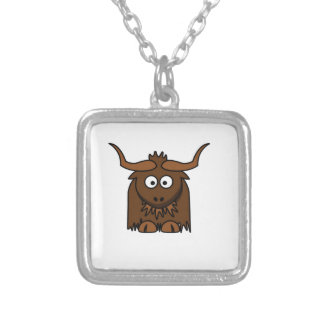 yak baby silver plated necklace