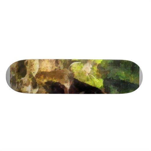 Yak Having a Snack Skate Board