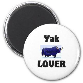Yak Lover 6 Cm Round Magnet