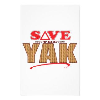 Yak Save Personalised Stationery