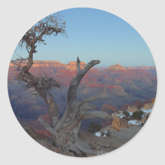 Yaki Point At The Grand Canyon Round Sticker