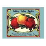 Yakima Valley Apples Vintage Fruit Crate Label Art Post Card