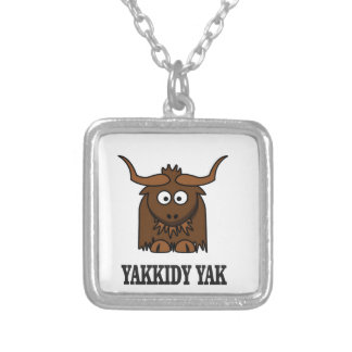 yakkidy yak silver plated necklace
