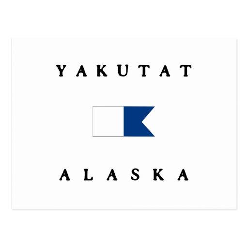 Yakutat Alaska Alpha Dive Flag Post Card