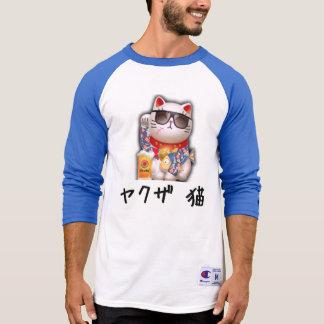 Yakuza cat 3/4 Sleeve Raglan T-Shirt