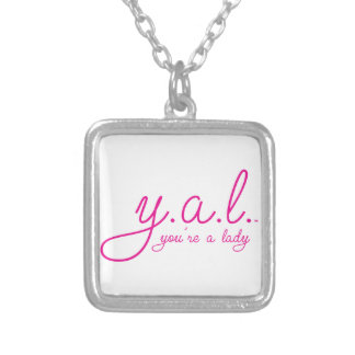 YAL - You're a Lady™ Square Pendant Necklace