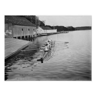 Yale University Rowing Crew Team Photograph Poster
