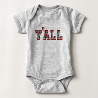Y'ALL Collegiate Collection Houndstooth Newborn Baby Bodysuit