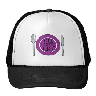 YAll Come Eat Mesh Hats