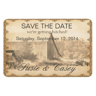 Y'all Come Save the Date Rectangular Photo Magnet