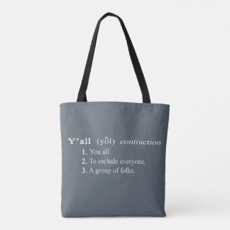 Y'all Definition All Over Print Tote Bag
