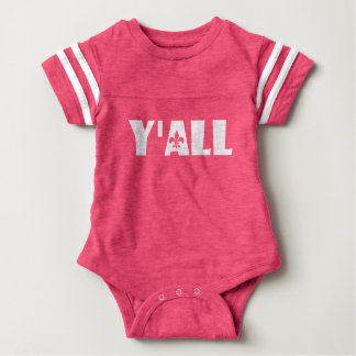 Y'all Fleur de Lis Cajun Louisiana Baby All in One Baby Bodysuit