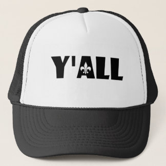 Y'all Fleur de Lis Cajun Louisiana Hat