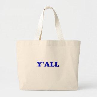 Y'all Large Tote Bag