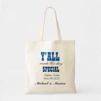 Y'all Made this Day Country Wedding Gift Tote Bag