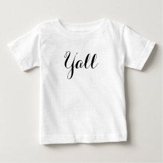 Y'all Typography Baby T-Shirt