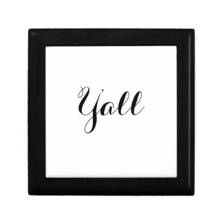 Y'all Typography Gift Box