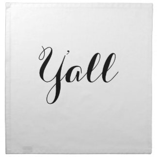 Y'all Typography Napkin